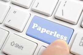 13242201 Paperless key on keyboard